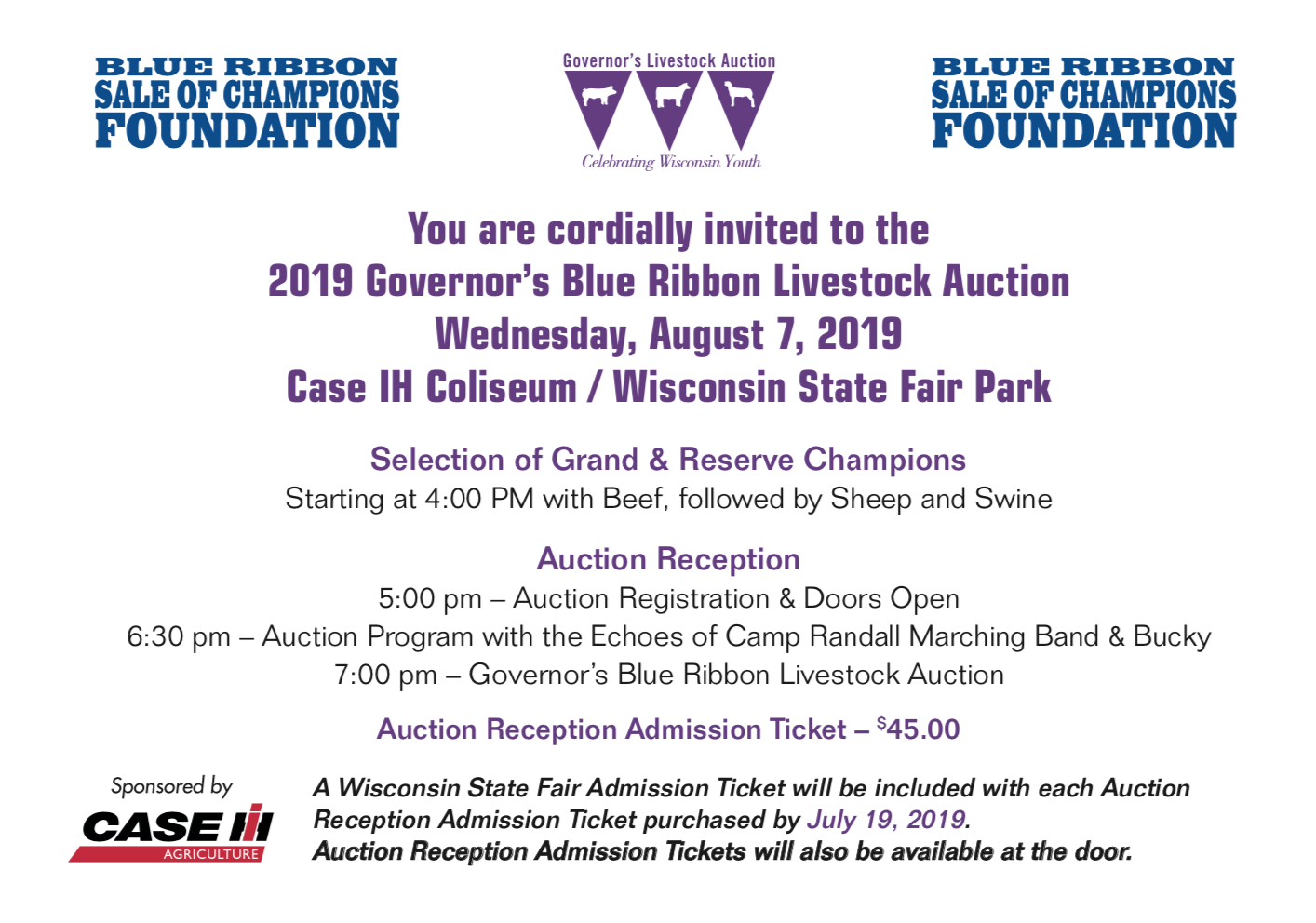 2019 Auction Invitation